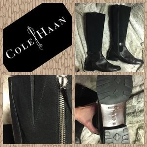 NWOT COLE HAAN Riding boots NIKE AIR leather suede